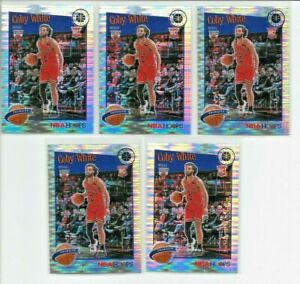 2019-20 Hoops Premium Stock COBY WHITE Pulsar Prizm LOT (x5) Bulls RC #295