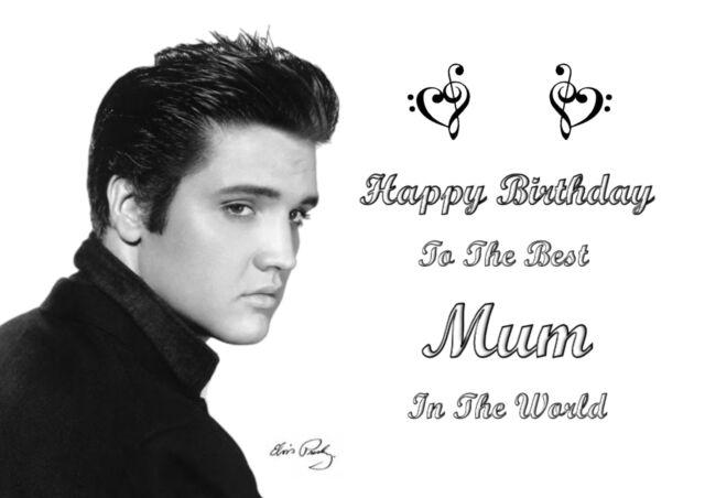 Elvis Presley 1*Personalized Birthday Card* Grandma Mother Daughter Sister Wife