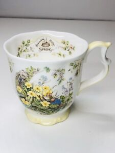 Royal-Doulton-Spring-Beaker-Brambly-Hedge-Footed-Coffee-Tea-Cup-Mug
