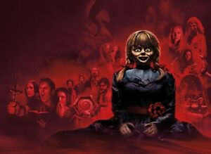 Annabelle Horror Movie Canvas Pictures 2019 Paranormal Film Wall Art Poster