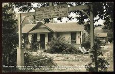 1920's Parkside Cabins & Cottages Fish Creek Door County Wisconsin RPPC Postcard