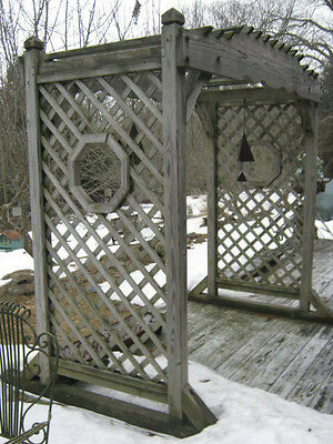 Antique Architectural Garden Wood Arch Pergola Swing