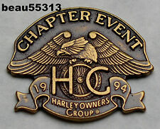 HARLEY DAVIDSON OWNERS GROUP CHAPTER EVENT 1994 HOG VEST JACKET HAT PIN