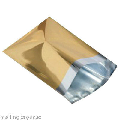 """50 Metallic Silver 4.7/""""x6.5/"""" Foil Mailing Postage Postal Bags"""