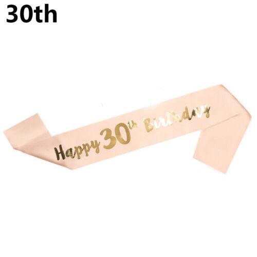 Ribbon Mom Favor Gift Birthday Girl Happy 18//21//30//40//50//60 Birthday Funny Sash
