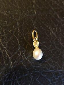 Pendentif  perle 0,4 cm  Or 18 Carats or jaune