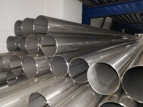 Edelstahlrohr 45mmx1000mm V2A Auspuffrohr Edelstahl Rohr Abgasrohr