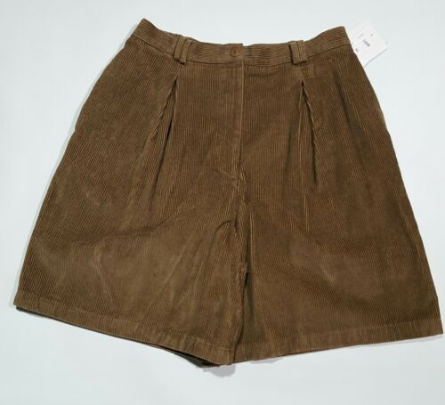 Sport Vintage Marrone Usa Karlie Shorts 16 Corduroy New Womens Taglia Made In qwEFPPt