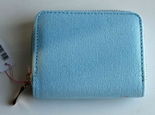 Small Fabric Canvas Zip Around Coin Wallet Purse