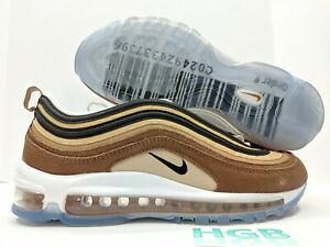 Details about Nike Air Max 97 Mens Barcode Shipping Box Brown Gold Running Shoe 921826 201 NIB