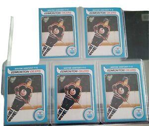5x WAYNE GRETZKY 1979-1980 O-Pee-Chee OPC RC ROOKIE *REPRINT* nm/mt 5 card lot