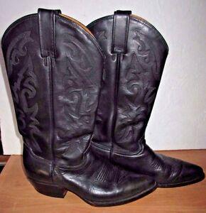 b2b22c0c107 Details about Rudel Western Cowboy Men's Black Boots Size 8E 27EE