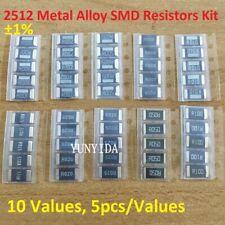 2512 Metal Alloy Smd Resistors 2w 1 Samples Assort Kit 10 Values 5pcsvalues