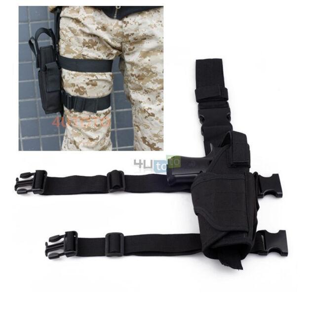 Tactical Pistol Gun Drop Leg Thigh Handgun Holster For Handgun Colt Glock  19 21