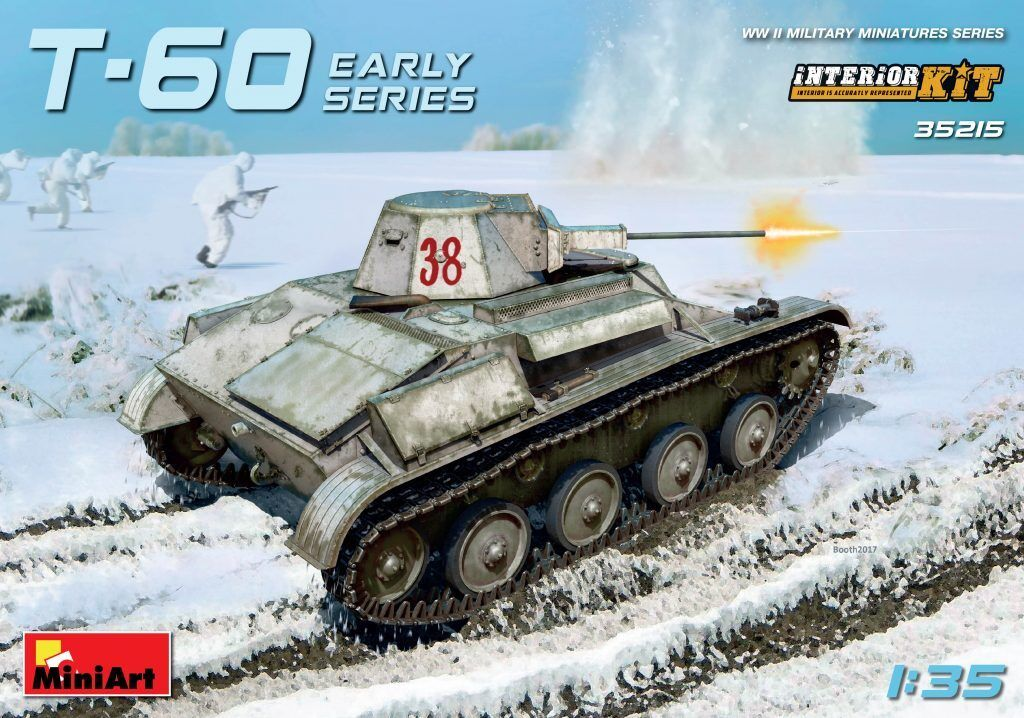Miniart 1 35 T-60 Early Series Soviet Tank With Interior Model Kit