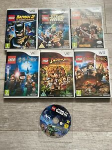 Nintendo-Wii-X7-Lego-Bundle-Star-Wars-Batman-Harry-Potter-Pirates-Indiana-Jones