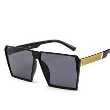 3b97c093942 Fashion Women Men Retro Sunglasses Oversize Square Frame Flat Top Metal  Glasses