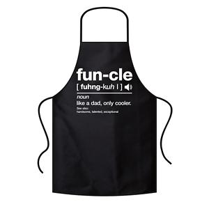 FUN-CLE-FUNCLE-Uncle-Onkel-Geschenkidee-Sprueche-Comedy-Kochschuerze-Latzschuerze