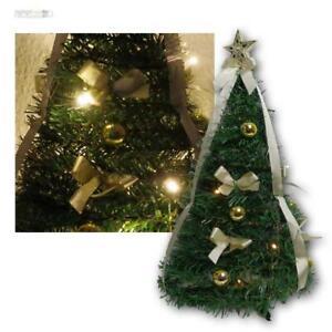 Détails sur Artificiel Petit Sapin de Noël, Noël avec Guirlande Lumineuse  10 LED Blanc Chaud