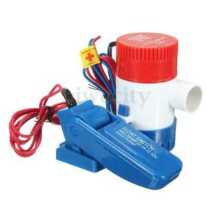 12V-1100GPH-Boat-Submersible-Bilge-Water-Pump-Float-Switch-For-Yacht-RV-Camping