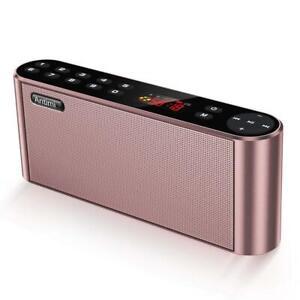 Antimi - Altoparlante Bluetooth, radio FM digitale portatile, lettore MP3,...
