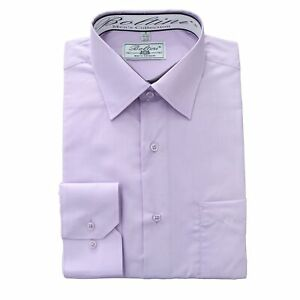 Boltini-Italy-Men-039-s-Collection-Long-Sleeve-Dress-Shirts-Convertible-Lilac