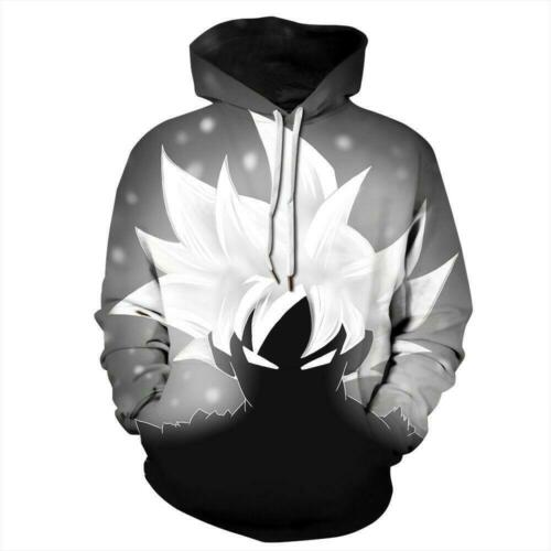 Womens Mens Sweatshirt 3D Print Cartoon Anime Coats Pullover Casual Hoodies Tops