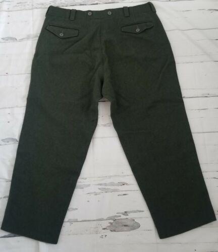 Men's Vintage Woolrich Wool Hunting Pants Suspende