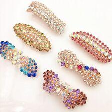 Style Random Metall Kristall Blumen Hairpin Haarspange Haarklammer Bogenknoten