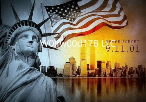 Colorful 911 Never Forget 9//11 Memorial Statue Of Liberty USA Publicity Photo