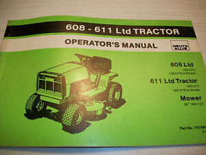 DEUTZ ALLIS 608 611 LTD TRACTOR OPERATORS MANUAL | eBayeBay