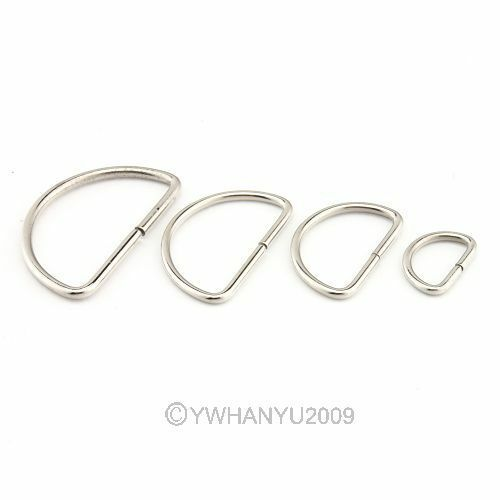 200X Jewelry Findings Clasps Silver Alloy Button D shape Fit Clothing Making New