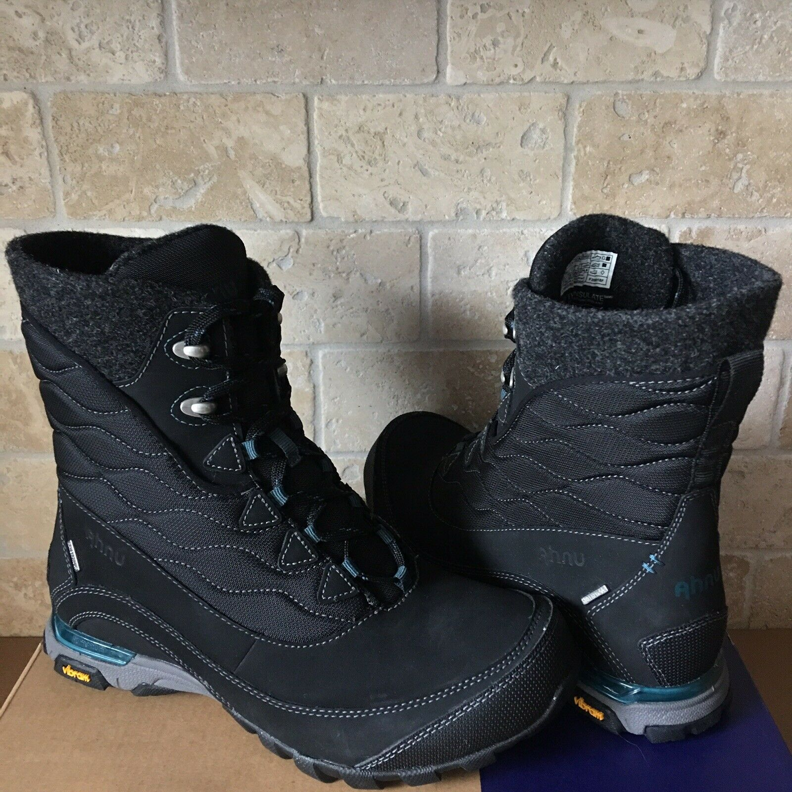 Ahnu por Teva sugarfrost Negro para Senderismo y botas Zapatos de EE. UU. para Mujer