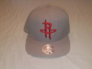 authentic classic fit fashion styles Houston Rockets Vintage SOLID Gray Snapback Mitchell & Ness NBA ...
