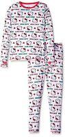 Cuddl Duds Chill Chasers Hello Kitty Girls Long Underwear Medium 7/8
