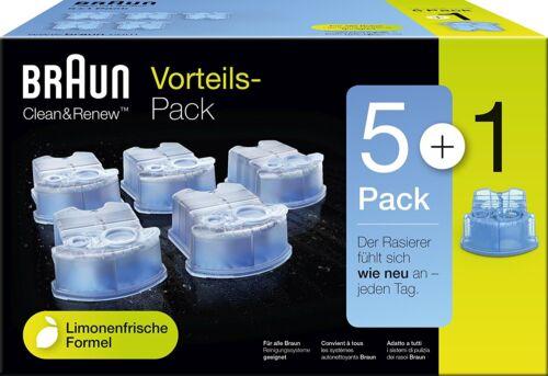 1 Reinigungskartusche zu Braun Rasierer Series 3,5,7,9 6er Pack Braun CCR 5