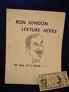 RON-LONDON-LECTURE-NOTES-VINTAGE-MAGIC