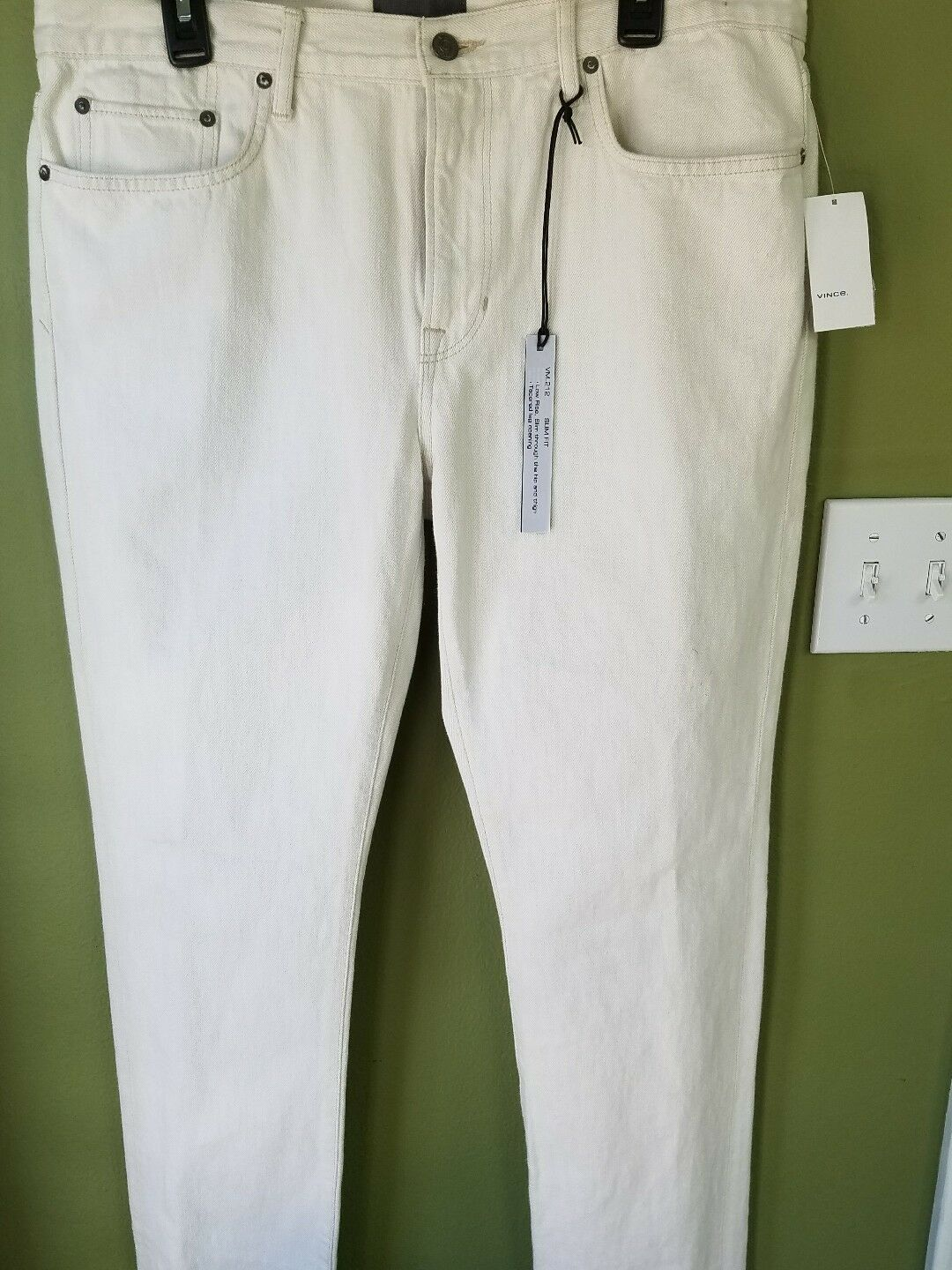 VINCE 'VM 212' Slim Fit Jean Men's Size 36 x 33  NEW  MSRP