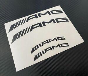 4 AMG Curved Decal Sticker Vinyl Caliper Brake Black Heat Resistant Mercedes