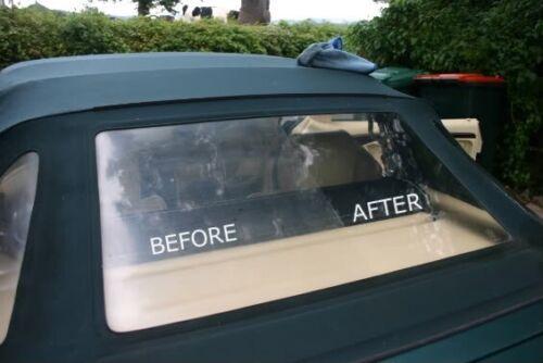 Jeep CJ Wrangler Plastic Window Restoration Polish