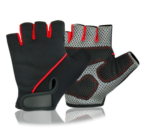 Cycling Gloves Half Finger Padded Palm Cycle Bicycle Weight Lifting Glove