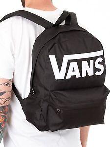 Zaino-Vans-Classico-Backpack-Old-Skool-Black-Scuola-Nero-Logo-Bianco-Scuola-2019