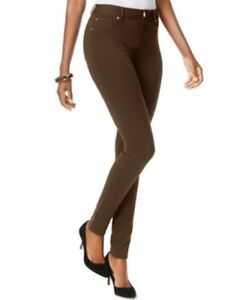 27c21ada9 INC International Concepts Skinny-Leg Ponte Pants, Coffee Bean Brown ...