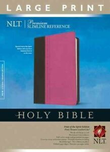 Holy-Bible-New-Living-Translation-Pink-Brown-Leatherlike-Premium-Slimlin