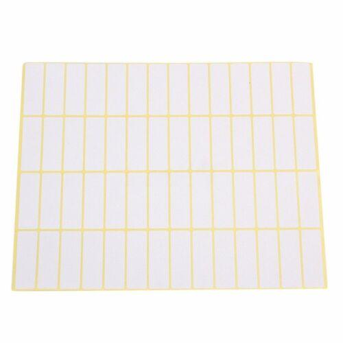 840x Universal Etiketten 15 Blatt 13x38mm Weiß Format Vielzweck Klebe Etiketten