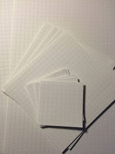 """Blank Perforated Acid Free Blotter Paper 7.5"""" x 10"""" sheet"""
