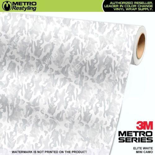 MINI ELITE WHITE Camouflage Vinyl Vehicle Car Wrap Camo Film Sheet Roll Adhesive
