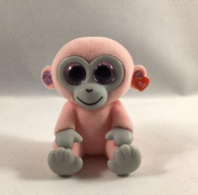 Mini Boo Figures Series 3 CHERRY the Pink Monkey TY Beanie Boos 2 inch NIB