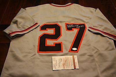 buy online ca19a 5ced1 SAN FRANCISCO GIANTS JUAN MARICHAL #27 SIGNED CUSTOM AWAY JERSEY HOF JSA  WITNESS | eBay