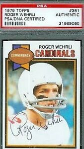 Roger-Wehrli-Hof-Signed-1979-Topps-Psa-dna-Autograph-Authentic
